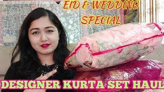 DESIGNER KURTA SET HAUL & REVIEW/WEDDING & EID SPECIAL SUIT/KURTA SET