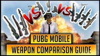 WHICH IS THE BEST PUBG MOBILE WEAPON? | COMPARING EVERY RIFLE, SNIPER, SMG + MORE!