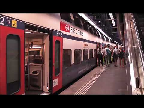How to get to town from Zurich Airport by train