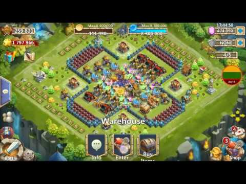 Double Evolving Scatter PHANTOM KING Castle Clash Spending Fame Gameplay