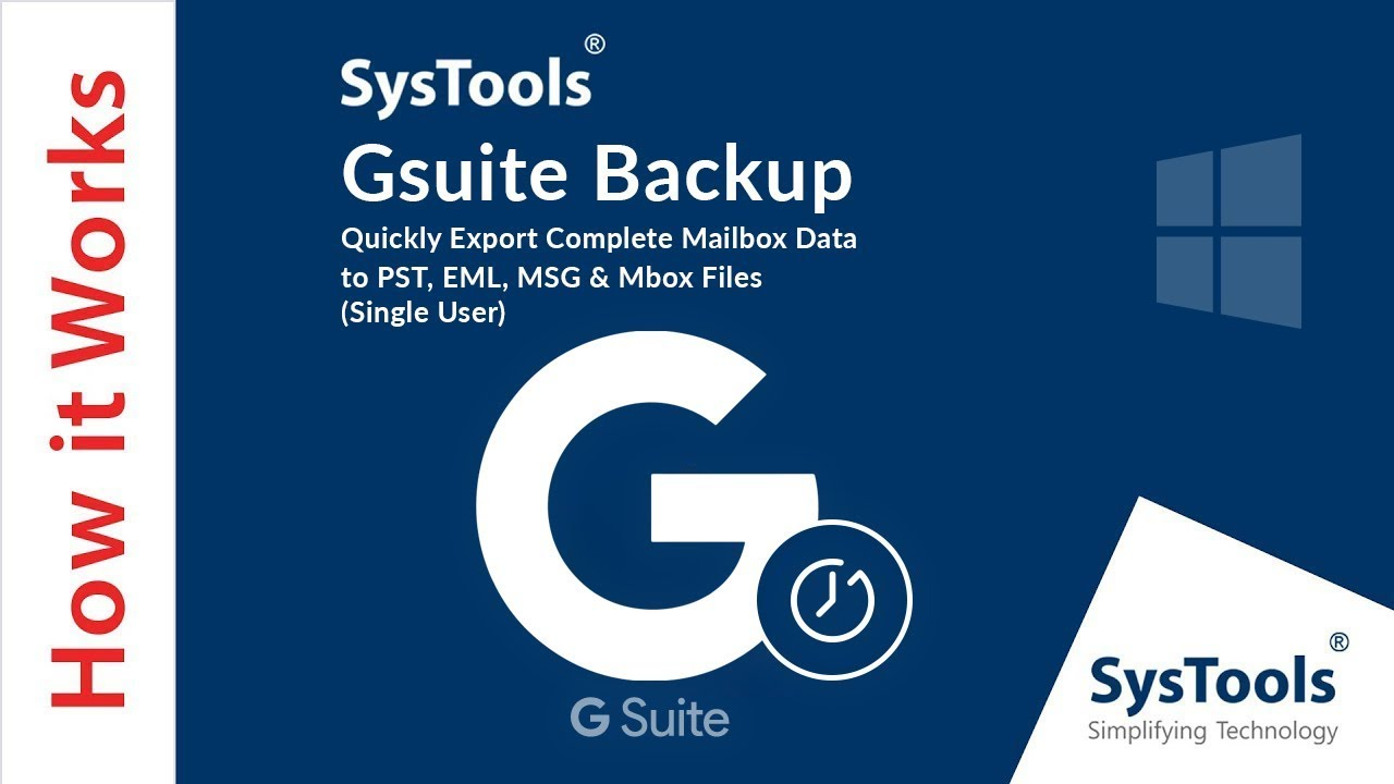 Google Apps Backup Tool to Export G Suite Business Email