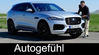 Jaguar F-PACE S FULL REVIEW test driven 3.0 & 2.0d all-new SUV neu