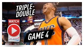 Russell Westbrook Game 4 Triple-Double Highlights vs Rockets 2017 Playoffs - 35 Pts, 14 Ast, 14 Reb