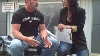 Hotrod Realtor Jill Sinclair with Len from Azzkikr Customs
