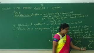 I PUC| statistics| Association of attributes-01
