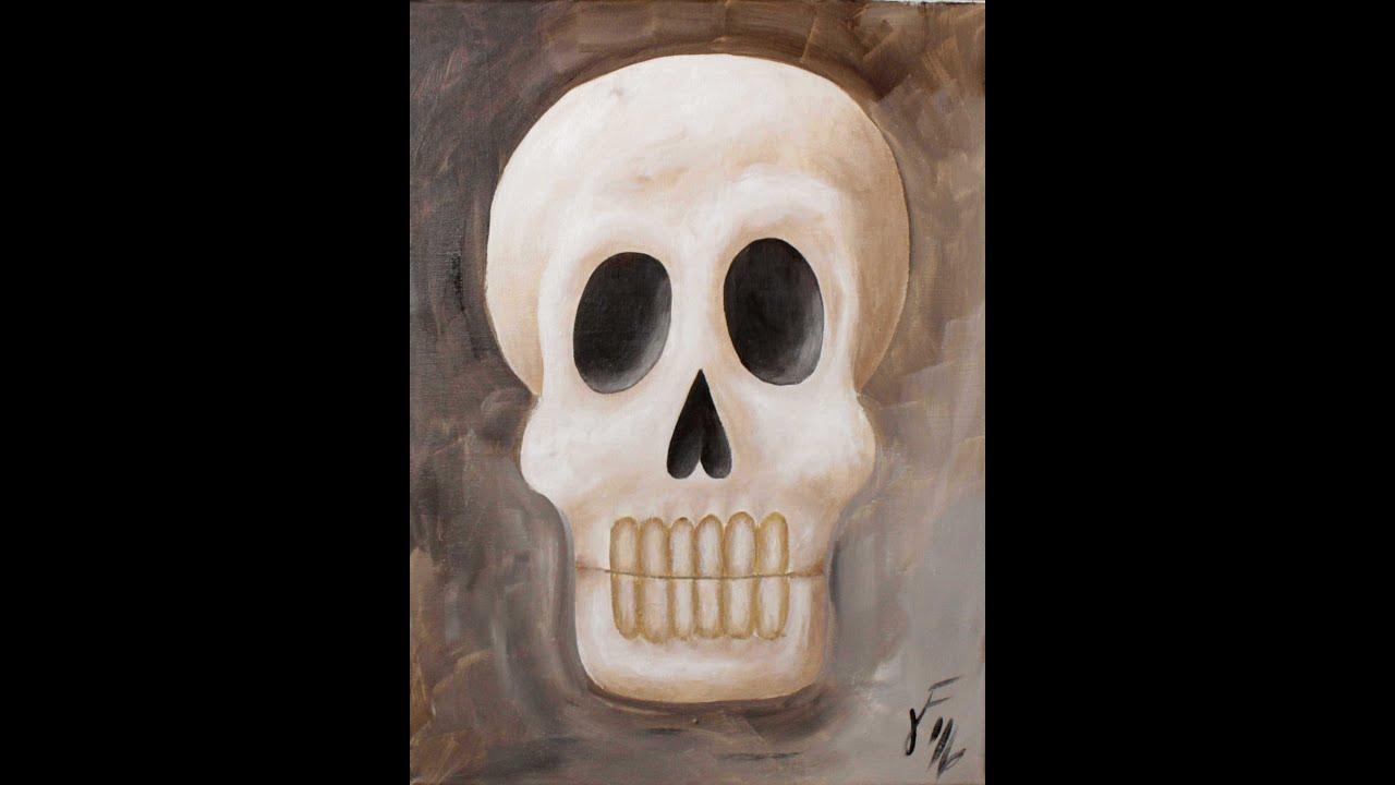 Sir Skullington Step By Step Acrylic Painting On Canvas