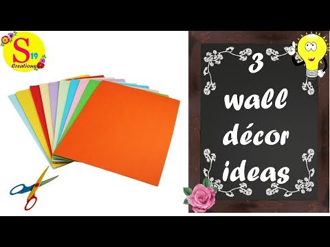 3 easy wall decor ideas with paper | 5 minute crafts with paper easy | rental appartment decor ideas