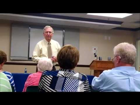 Mitch McConnell townhall meeting in Danville, KY 08-27-2014