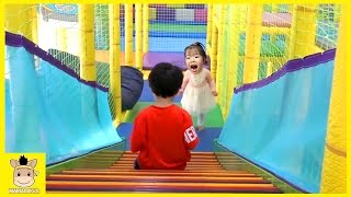 Indoor Playground Learn Kids Fun Colors Color Ball Rainbow for Play Family Slide | MariAndKids Toys