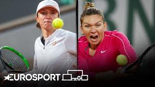 Simona Halep vs Iga Swiatek | Roland Garros 2020 - Round 4 Highlights | Tennis | Eurosport