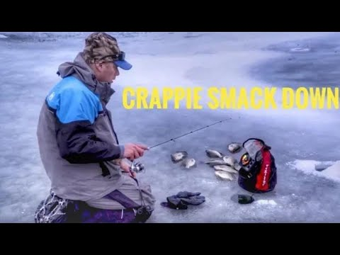 Ice Fishing Reservoir CRAPPIE North Dakota #crappie #icefishing