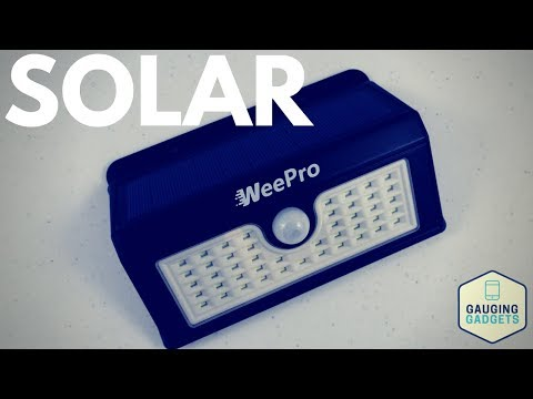 WeePro Outdoor Solar Light Review - 45 LED, Waterproof