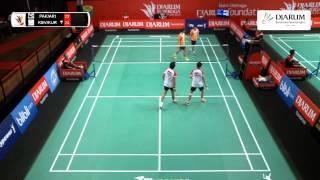 Kevin Sanjaya/Fran Kurniawan (Djarum Kudus) VS Pakkawat V/M. Arif Bin A. Latif (Granular Thailand)