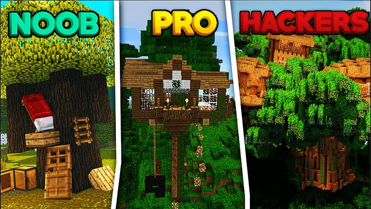 Minecraft - Noob Pro Hacker - Secret Tree House