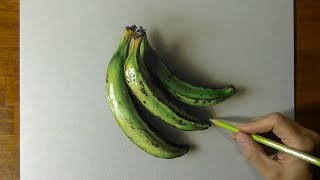 Drawing cooking bananas - How to draw 3D Art