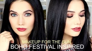 My Makeup Routine For the Sun! | Boho Festival Inspired
