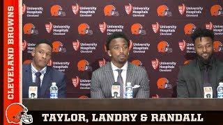 Browns introduce Tyrod Taylor, Jarvis Landry and Damarious Randall thumbnail