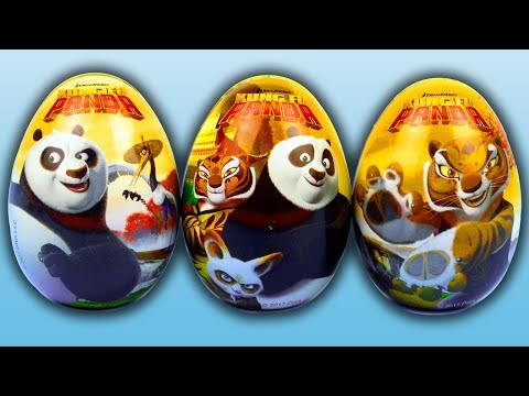 3 Metal Surprise Eggs Kung Fu Panda, New Surprise Eggs from Egypt Surprise Toys