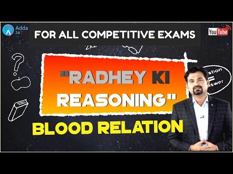 Blood Relation By Radhey Sir For All Competitive Exams | Reasoning Tricks