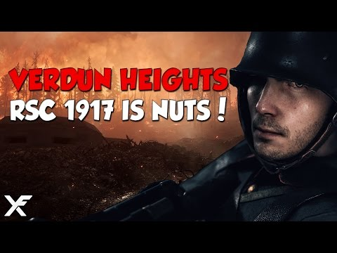 The RSC 1917 is Nuts - Verdun Heights Conquest - Battlefield 1
