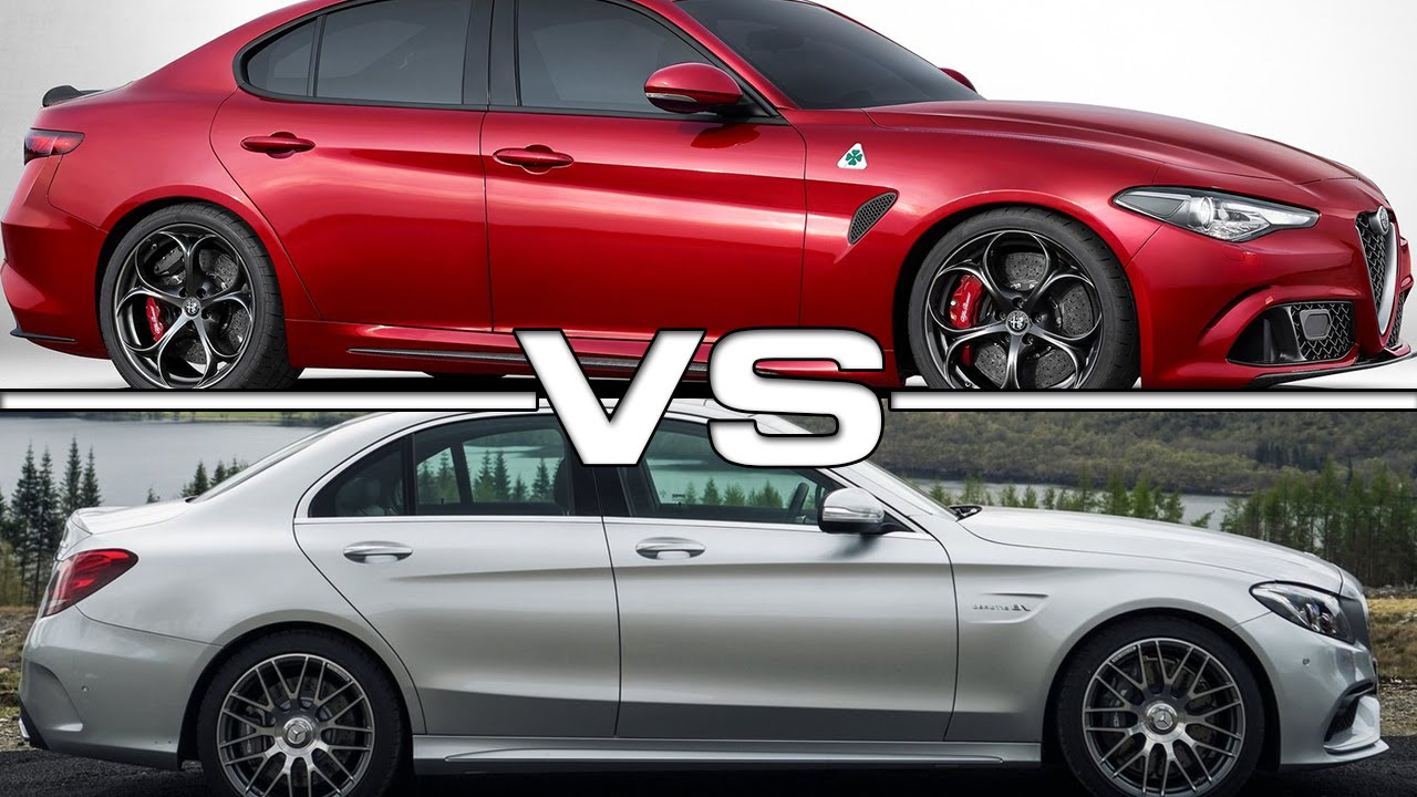 2016 alfa romeo giulia quadrifoglio vs 2016 mercedes amg for Alfa romeo vs mercedes benz