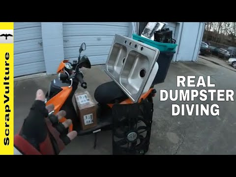 REAL TIME - Industrial Park Dumpster Diving #1