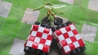 quilling paper box weaving earrings