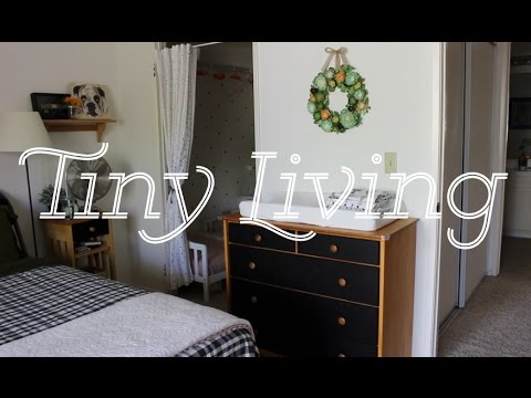 TINY LIVING! | Family of 4 in ONE BEDROOM! 😲