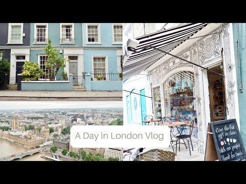 A day in London, Frenchic press day, London eye, Notting Hill   VLOG