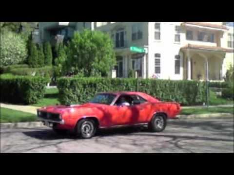 Cars around the lake: Porsche, Corvette, Black Car, Plymouth Barricuda