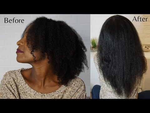 Straightening type 4 natural hair NO heat damage!