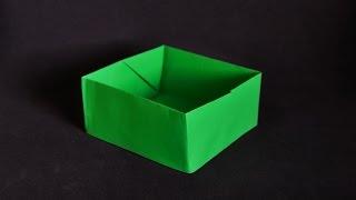 Origami: Box - Caixa de papel com folha A4