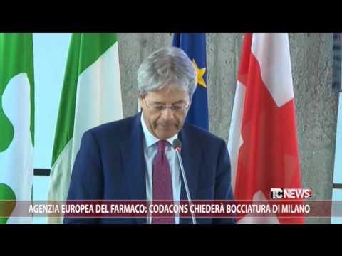 Agenzia Europea del Farmaco: Codacons chiederà bocciatura di Milano