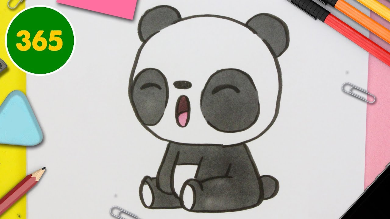 Comment Dessiner Panda Kawaii étape Par étape Dessins Kawaii Facile