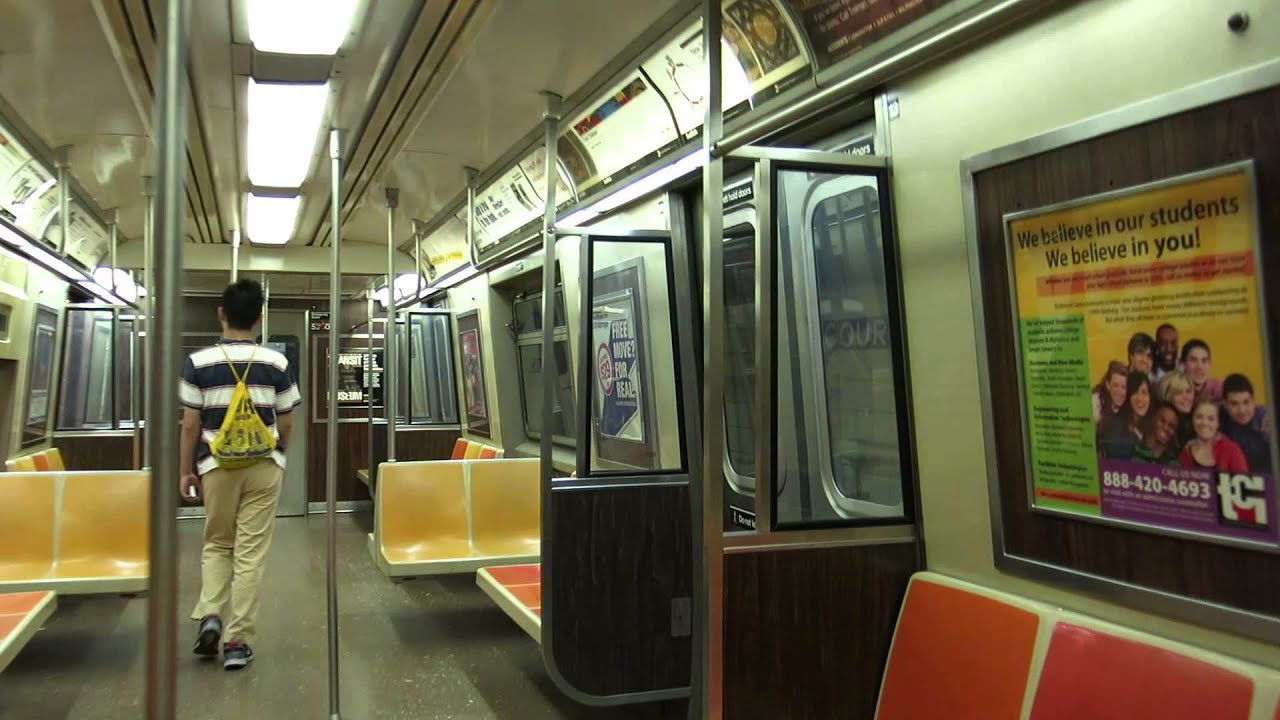 nyc subway r44 5240 interior tour nytm youtube. Black Bedroom Furniture Sets. Home Design Ideas