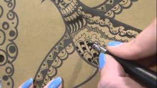 Урок рисования (прокатываем орнаментом)