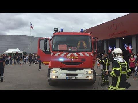 Départ VSAV01+ FPT Pompiers Lyon-Genas