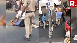 SHOCKING: Delhi Police Officials Brutally Thrash Man Following An Accident Between Their Vehicles