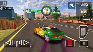 Police Drift Car Driving Simulator #4 New Paint Rainbow   Android GamePlay FHD