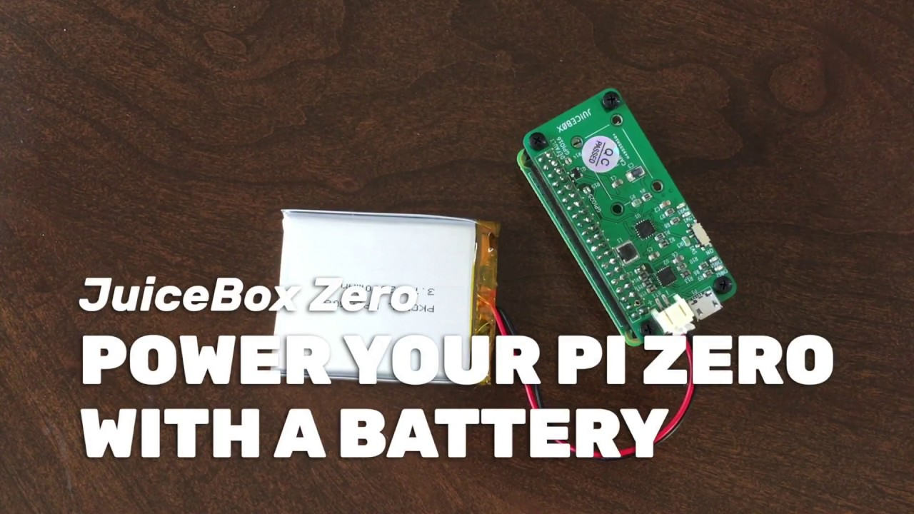 Power Your Raspberry Pi Zero With A Battery Using The Juicebox Zero Youtube