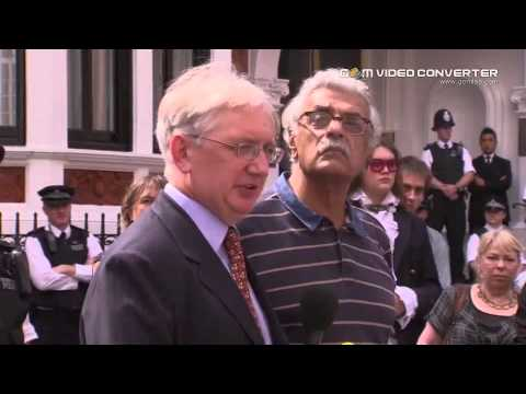 Julian Assange first public statement since entering Ecuador's London embassy