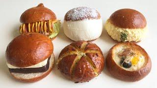 모닝빵으로 맛있는 거 만들기 ㅣ 육쪽마늘빵, 계란빵, …