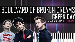 How To Play: Green Day - Boulevard Of Broken Dreams | Piano Tutorial + Sheets