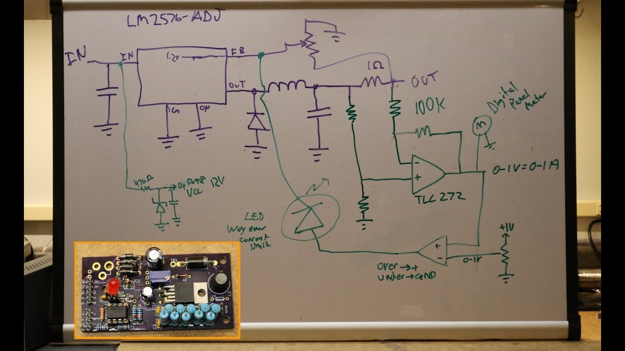 Current Limited Lm2576 Power Supply Youtube