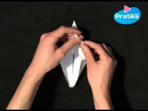 origami comment faire une grue en papier youtube. Black Bedroom Furniture Sets. Home Design Ideas