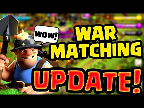 WAR MATCHING UPDATE !! Engineered Bases Banned ??