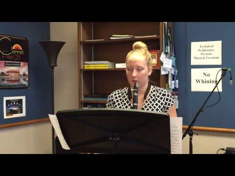 Lamont School of Music- clarinet competition Megan Taylor
