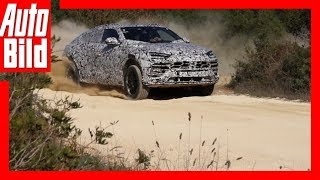 Erlkönig Lamborghini Urus (2017) Erste Fahrt/Details/Review