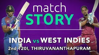 India v West Indies, 2nd T20I, Match Story: WI level the series 1-1