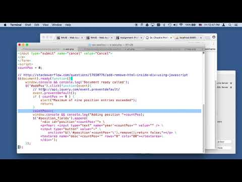 Code Walkthrough: Profiles, Positions, and JQuery